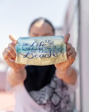 Face Mask - Life's Better at the Beach - PawAnimal Cloth face mask aos-face-mask-lifestyle-07
