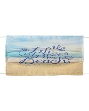 Face Mask - Life's Better at the Beach - PawAnimal Cloth face mask front
