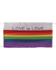 Love is Love Face Cloth face mask front