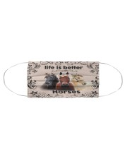 HORSES LIFE IS BETTER FACE Cloth face mask aos-face-mask-coverlet-lifestyle-front-01