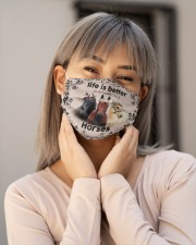 HORSES LIFE IS BETTER FACE Cloth face mask aos-face-mask-lifestyle-17