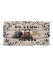 HORSES LIFE IS BETTER FACE Cloth face mask front