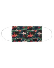 BLACK CAT HAWAII FLOWER FACE Cloth face mask aos-face-mask-coverlet-lifestyle-front-01