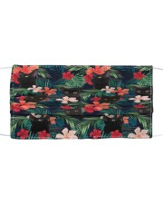 BLACK CAT HAWAII FLOWER FACE Cloth face mask front
