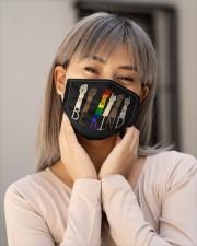 Be Kind - Custom Printed Face Mask - PawAnimal Cloth face mask aos-face-mask-lifestyle-17