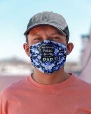My Favorite Police Officer call me DAD Cloth face mask aos-face-mask-lifestyle-06