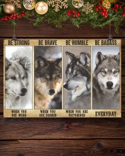 Wolf be strong 24x16 Poster aos-poster-landscape-24x16-lifestyle-28