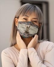 RABBIT BOHO FACE Cloth face mask aos-face-mask-lifestyle-17