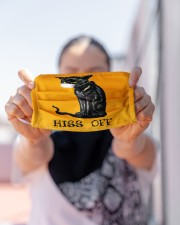 Black Cat HISS OFF  Cloth face mask aos-face-mask-lifestyle-07