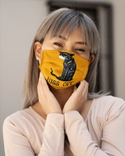 Black Cat HISS OFF  Cloth face mask aos-face-mask-lifestyle-17