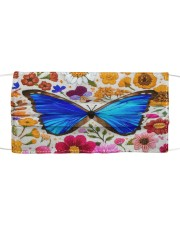 BUTTERFLY FLOWER FACE Cloth face mask front