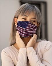 US Flag Face Mask - Flower Face Mask - PawAnimal Cloth face mask aos-face-mask-lifestyle-17