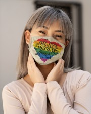 LGBT Love Face Cloth face mask aos-face-mask-lifestyle-17