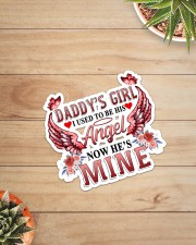 Daddy Girl I used to be his Angel  Sticker - Single (Vertical) aos-sticker-single-vertical-lifestyle-front-07