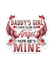 Daddy Girl I used to be his Angel  Sticker - Single (Vertical) front