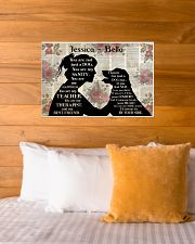 Girl Dog Silhouette 24x16 Poster poster-landscape-24x16-lifestyle-27