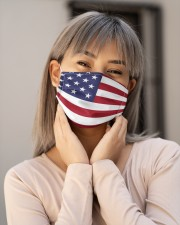 American Flag Mask Face Cloth face mask aos-face-mask-lifestyle-17