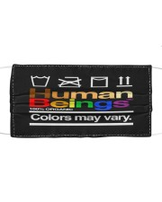 LGBT Human Beings Mask Face Cloth face mask front