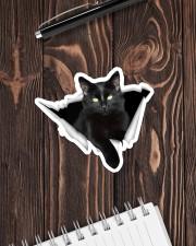 Black cat Crack Sticker - Single (Horizontal) aos-sticker-single-horizontal-lifestyle-front-05
