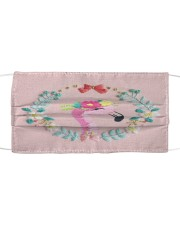 FLAMINGO FLOWER FACE Cloth face mask front