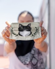 Cat Vintage Face Cloth face mask aos-face-mask-lifestyle-07