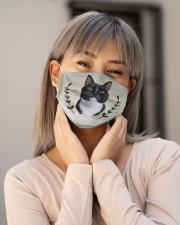Cat Vintage Face Cloth face mask aos-face-mask-lifestyle-17