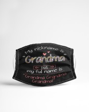My nickname is Grandma Cloth face mask aos-face-mask-lifestyle-22