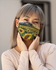 SUNFLOWER FACE Cloth face mask aos-face-mask-lifestyle-17