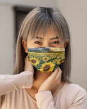 SUNFLOWER FACE Cloth face mask aos-face-mask-lifestyle-18