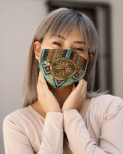 Native American Tribal Patterns Cloth face mask aos-face-mask-lifestyle-17