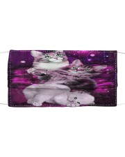 Cats Purple  Cloth face mask front
