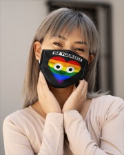 LGBT Heart Mask Face Cloth face mask aos-face-mask-lifestyle-17