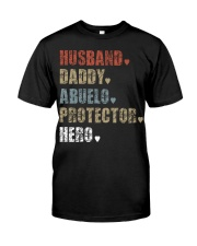 Husband Daddy Abuelo Protector Hero Premium Fit Mens Tee front