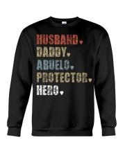 Husband Daddy Abuelo Protector Hero Crewneck Sweatshirt thumbnail