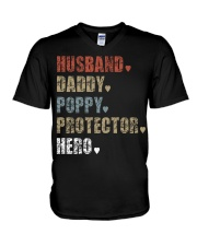 Husband Daddy POPPY Protector Hero V-Neck T-Shirt thumbnail