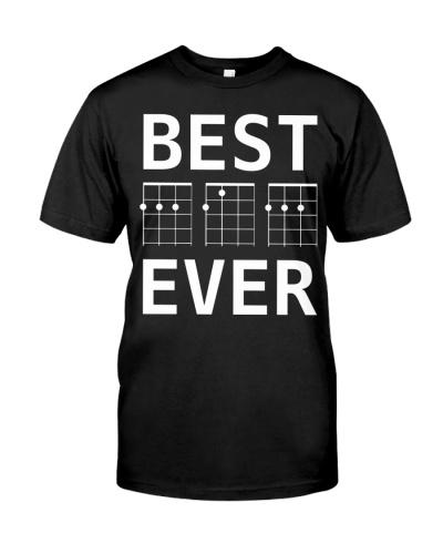 Best Dad Ever T Shirt White Ukelele Chords Design