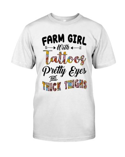 FARM GIRL WITH TATTOOS PRETTY EYES -THICK THIGHS