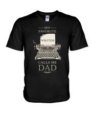 My Favorite Writer Calls Me Dad V-Neck T-Shirt thumbnail
