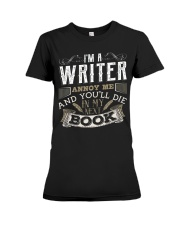 Don't Annoy Writers Premium Fit Ladies Tee thumbnail