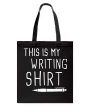 Writing shirt Tote Bag thumbnail