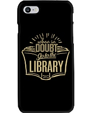 When In Doubt Go To The Library Phone Case tile