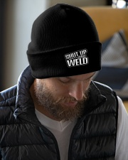 Shut Up and Weld Knit Beanie garment-embroidery-beanie-lifestyle-06