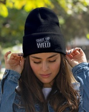 Shut Up and Weld Knit Beanie garment-embroidery-beanie-lifestyle-07