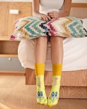 SpongeBob Socks Crew Length Socks aos-accessory-crew-length-socks-lifestyle-front-01