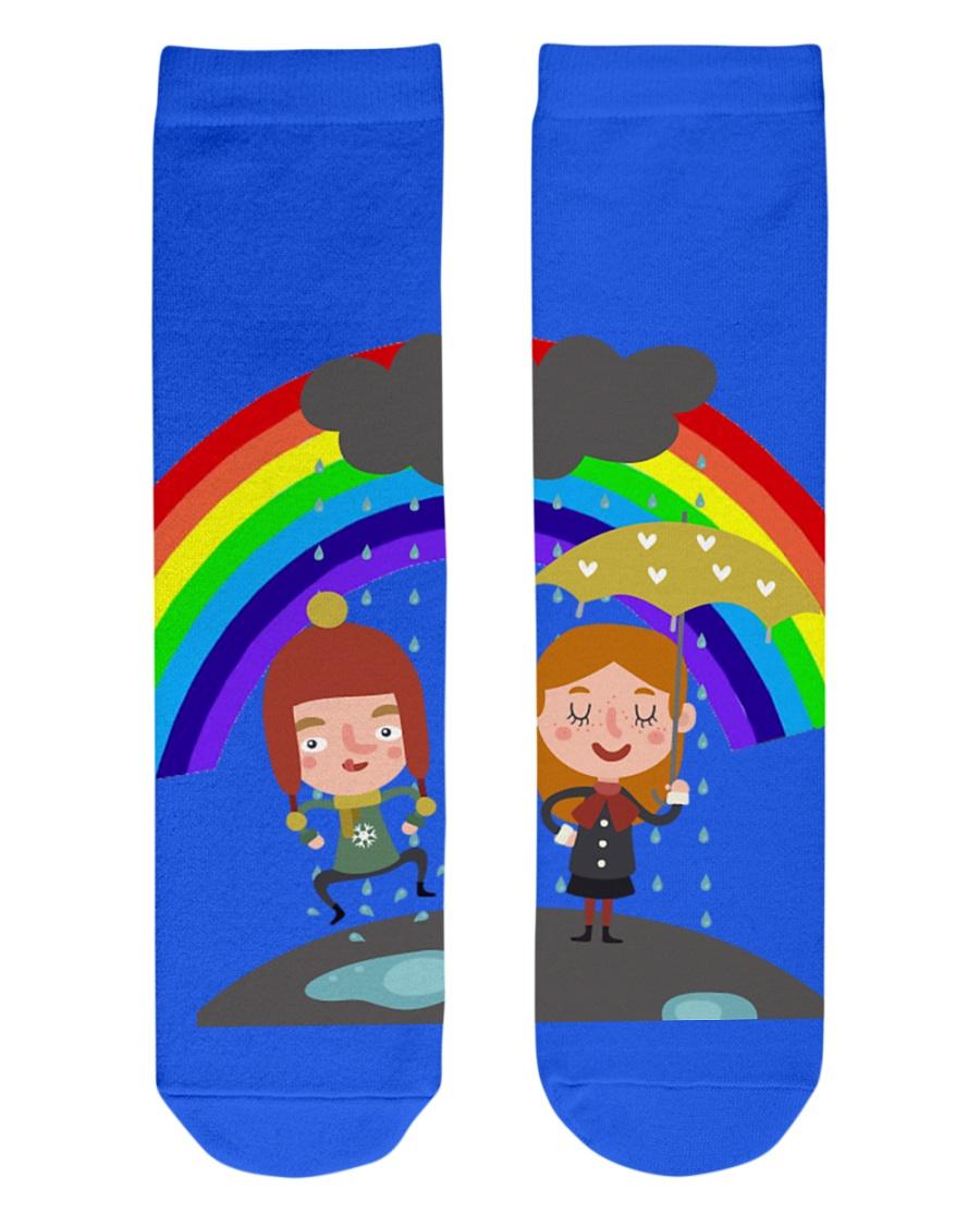 Rainbow Socks Crew Length Socks