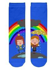 Rainbow Socks Crew Length Socks front