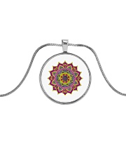 Beautiful Stylish Elegant colors  Metallic Circle Necklace thumbnail