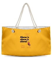 Corona 2020 - Alone is alone Weekender Tote front