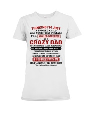 Thinking I'm Just A Spoiled Child Premium Fit Ladies Tee tile