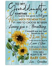 To My Granddaughter 11x17 Poster front